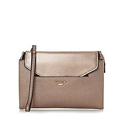 Dune - Bronze 'Ennie' removable envelope pouch clutch bag