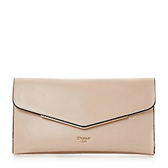 Dune - Natural 'Epeonnie' metal insert envelope clutch bag