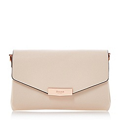 Dune - Natural 'Exie' multi compartment flap over clutch bag