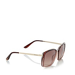 Dune - Brown 'Gizele' metal insert sunglasses