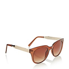 Dune - Brown 'Gabrielle' cat eye sunglasses