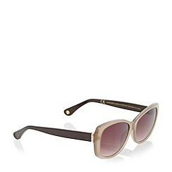 Dune - Taupe 'Giulliana' oval frame sunglasses