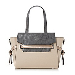 Dune - Light pink 'Delpha' winged top handle handbag