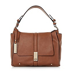 Dune - Tan 'Dennerson' turn lock slouchy shoulder bag