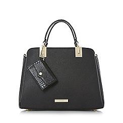 Dune - Black 'Dillier' purse charm top handle bag