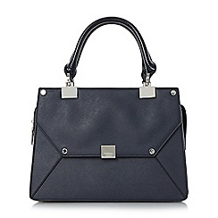Dune - Navy 'Demerelda' multiple compartment top handle bag