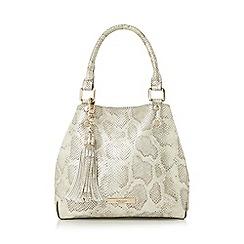 Dune - Silver 'Dibbeny' tassel detail top handle bag