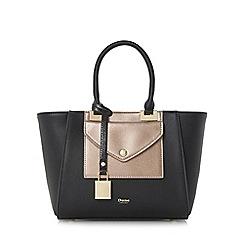Dune - Black 'Deanne' envelope front pocket top handle handbag