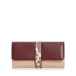 Dune - Pink 'Karys' font strap flap over purse