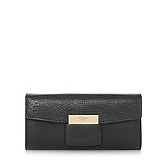 Dune - Black 'Kebella' flap over slot detail purse