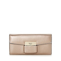 Dune - Bronze 'Kebella' flap over slot detail purse