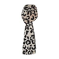 Dune - Grey 'Laura' grey leopard print scarf