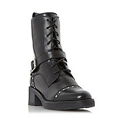 Dune - Black 'Roxbury' studded biker boot