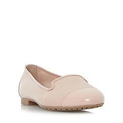 Dune - Light pink 'Geneveve' toecap detail slipper cut shoes