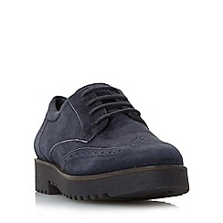 Dune - Navy 'Feean' thick sole lace up brogue shoe