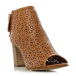 Dune - Tan 'Wekesa' laser cut foot coverage sandals