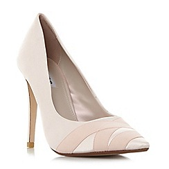 Dune - Natural 'Archive' satin pointed toe court shoes