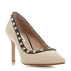 Dune - Natural 'Babylonn' studded pointed toe court shoes