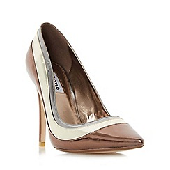 Dune - Multicoloured 'Bronza' triple metallic high heel court shoe