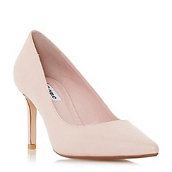 Dune - Light pink 'Abbigail' pointed toe mid heel court shoes