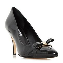 Dune - Black 'Anora' bow trim court shoe