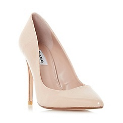 Dune - Natural 'Aiyana' pointed toe high heel court shoes