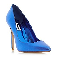 Dune - Blue 'Aiyana' pointed toe high heel court shoes