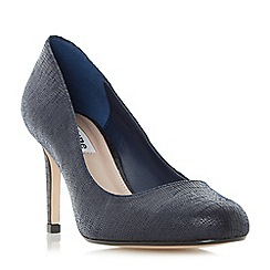 Dune - Navy 'Aggilera' round toe court shoes