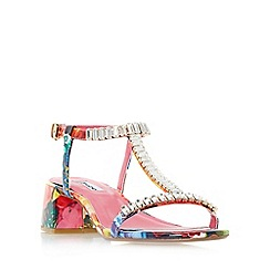 Dune - Multicoloured 'Malie' jewelled t-bar block heel sandals