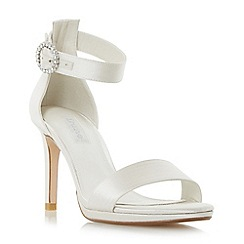 Dune - Ivory 'Miami' two part high heel sandal