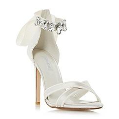 Dune - Ivory 'Morgen' jewel ankle strap high heel sandal