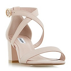 Dune - Light pink 'Montie' cross strap block heel sandals