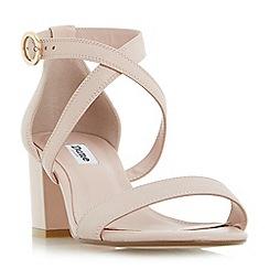 Dune - Light pink 'Montie' cross strap block heel sandals