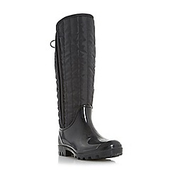 Dune - Black 'Twister' warm lined wellington boot