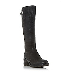 Dune - Black 'Tedmund' buckle detail knee high boot