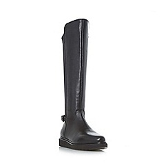 Dune - Black 'W tumbridge' wide fit stretch panel knee high boot