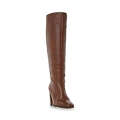 Dune - Tan 'Stockard' unlined pull on knee high boots
