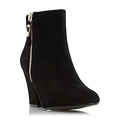 Dune - Black 'Orley' side zip ankle boot