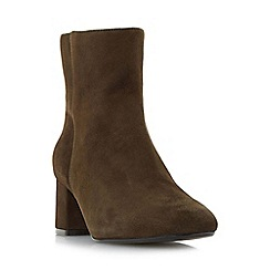 Dune - Khaki 'Packham' low block heel ankle boot
