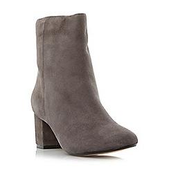 Dune - Grey 'Pebbles' block heel ankle boots