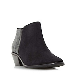 Dune - Black 'W parrson' wide fit mixed material ankle boot
