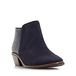 Dune - Navy 'W parrson' wide fit mixed material ankle boot