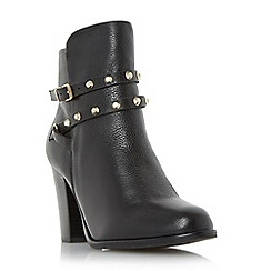 Dune - Black 'Padro' studded block heel ankle boot