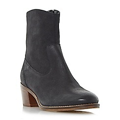 Dune - Black 'Pocket' causal block heel ankle boot