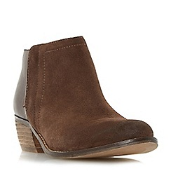 Dune - Brown 'Penela' mixed material ankle boot