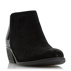 Dune - Black 'Penela' mixed material ankle boot