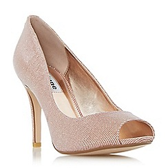 Dune - Rose 'Dinaa' peep toe high heel court shoe