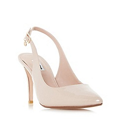 Dune - Natural 'Cathy' sling back mid heel court shoes