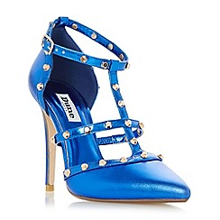 Dune - Blue 'Daenerys' studded high heel court shoe