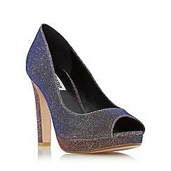 Dune - Multicoloured 'Dulsie' platform peep toe court shoe